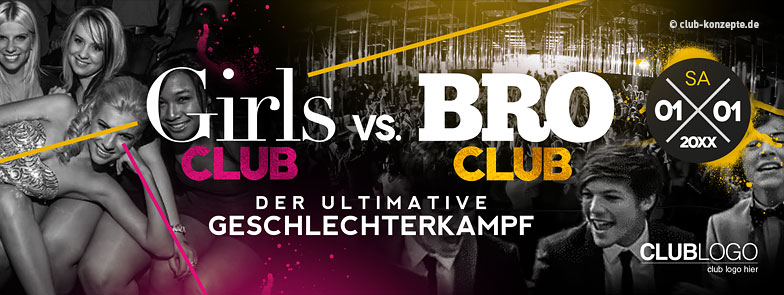 Girl's Club vs Bro Club